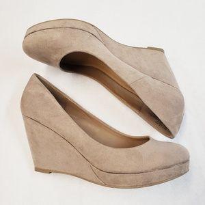 apt 9 Kensington Suede Wedges Shoes Size 9.5 M